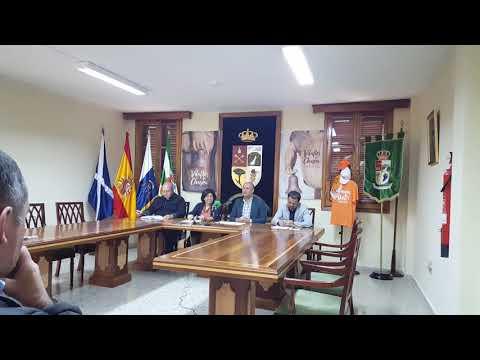Rueda de prensa en Ayuntamiento Vilaflor de XIV RUTA HERMANO PEDRO
