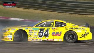 Alon Day celebrating his back-to-back NWES title   NASCAR GP BELGIUM 2018