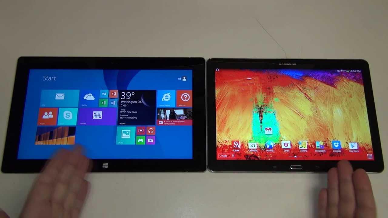 Microsoft Surface 2 vs Samsung Galaxy Note 10.1 2014 ...