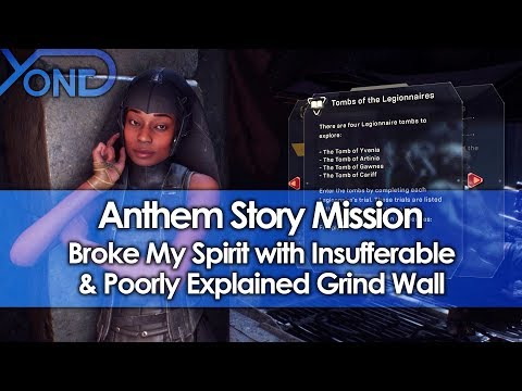 Anthem Story Mission Broke My Spirit with Insufferable & Poorly Explained Grind Wall