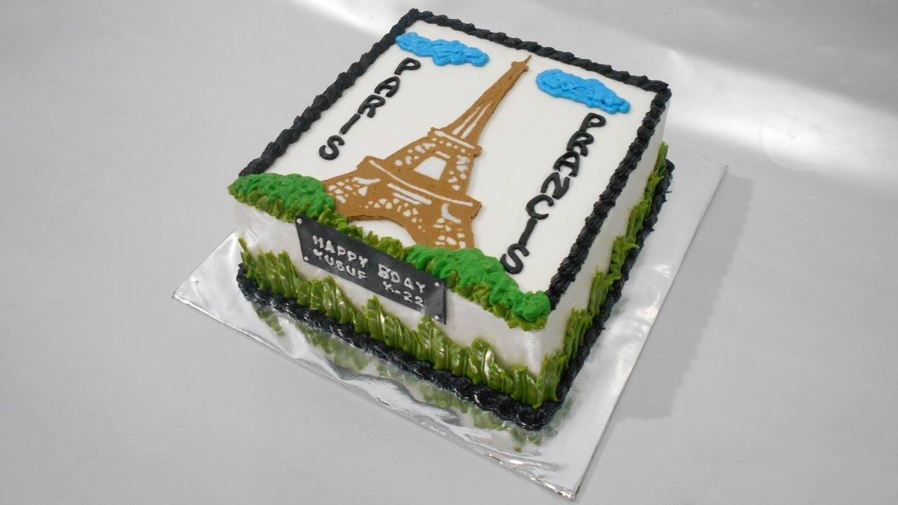Eiffel Tower Cake Tutorial Easy Youtube