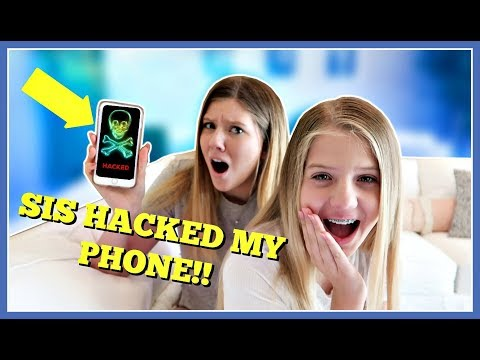 SIS HACKED MY iPHONE || PRANK WARS || Taylor and Vanessa - YouTube