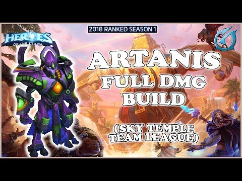 Grubby | Heroes of the Storm - Artanis  - Full Dmg Build - TL 2018 S1 - Sky Temple