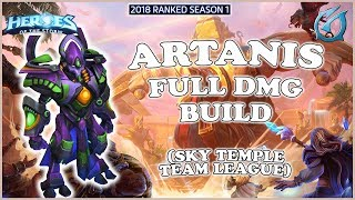 Grubby   Heroes of the Storm - Artanis  - Full Dmg Build - TL 2018 S1 - Sky Temple