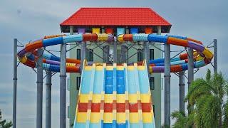 Windigo Racer Water Slide at Dino Water Park (+STUCK!)
