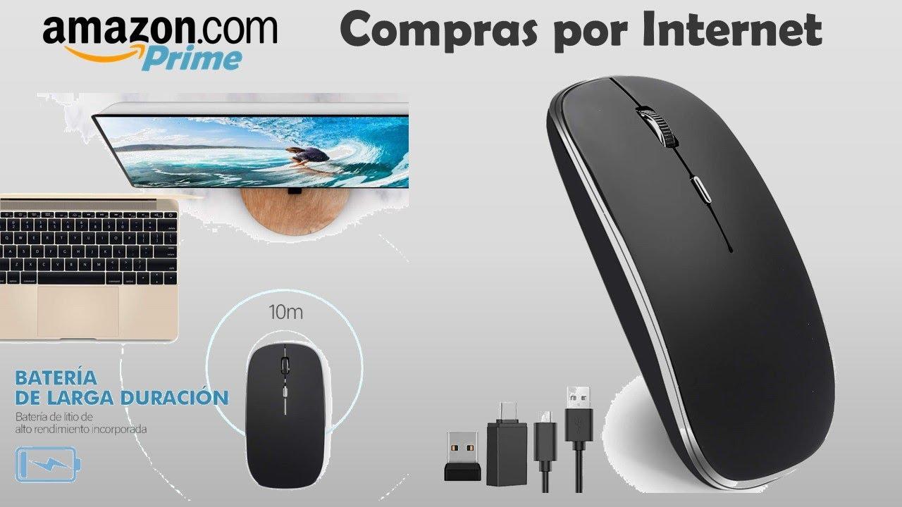 "Unboxing ""Mouse, Ratón Inalámbrico Recargable Wireless óptico dpi Ajustable"" | Amazon México"