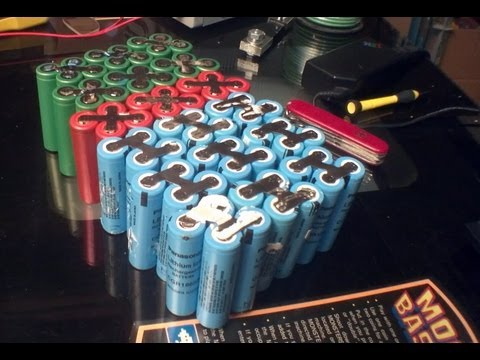 DIY: 48v 24ah lithium ion 18650 e-bike battery pack