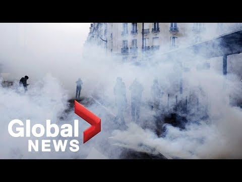 Paris descends into chaos on anniversary of 'Yellow Vests' protests
