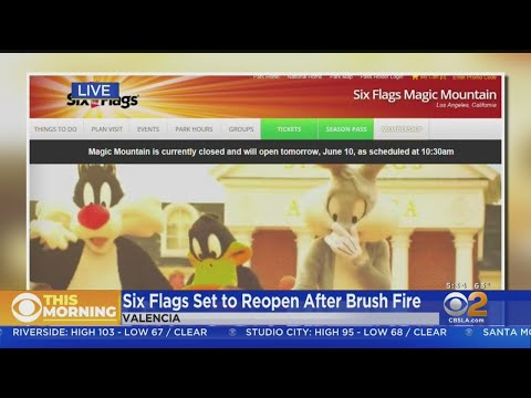 Magic Mountain, Hurricane Harbor To Reopen After Brush Fire Forces