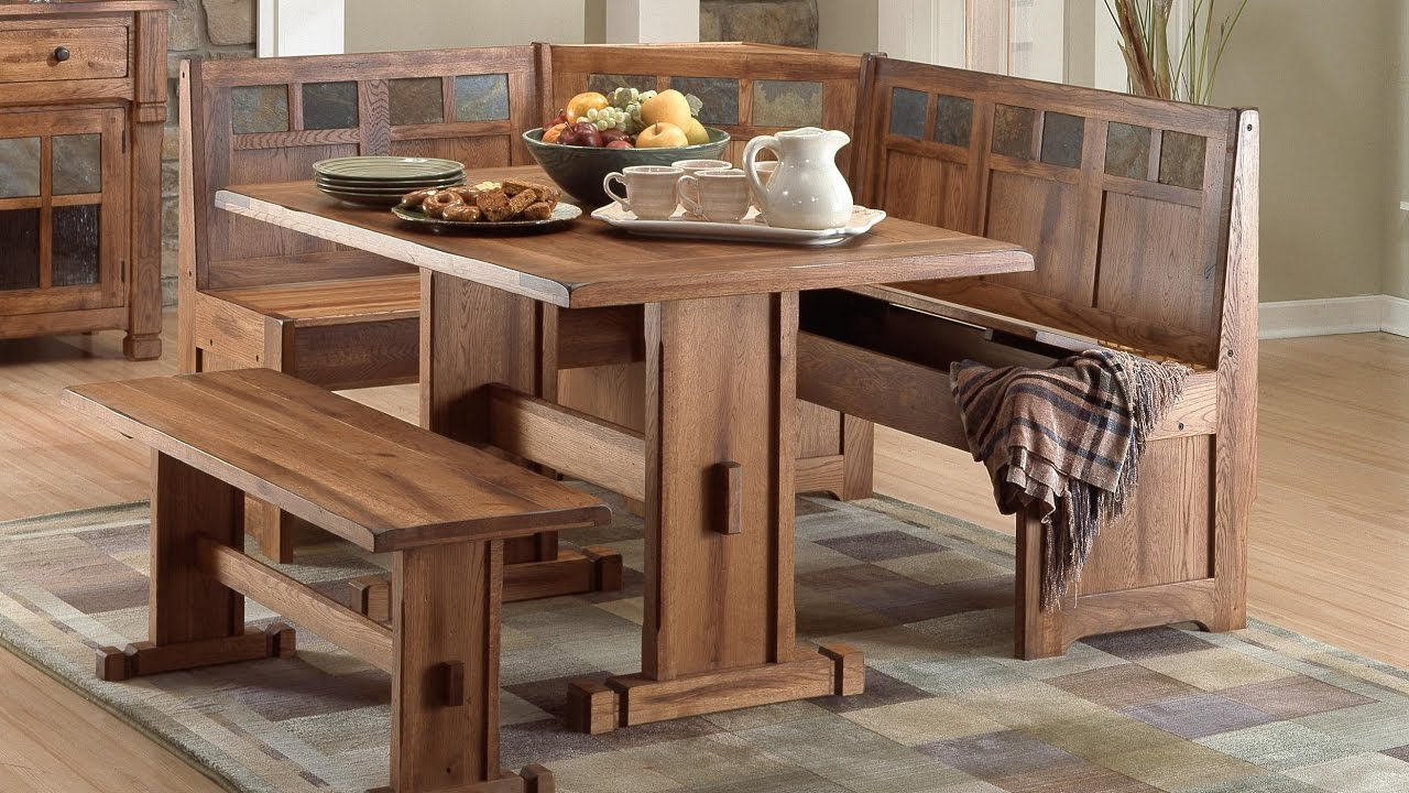 sedona dining room nook table setsunny designs - youtube