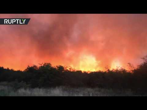 Wildfires Raging: