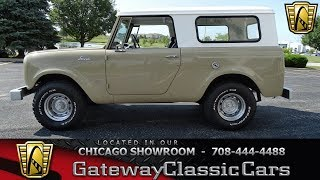1962 International Harvester Scout 80 Gateway Classic Cars Chicago #1261