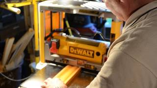 My New Dewalt 734 Planer In Action