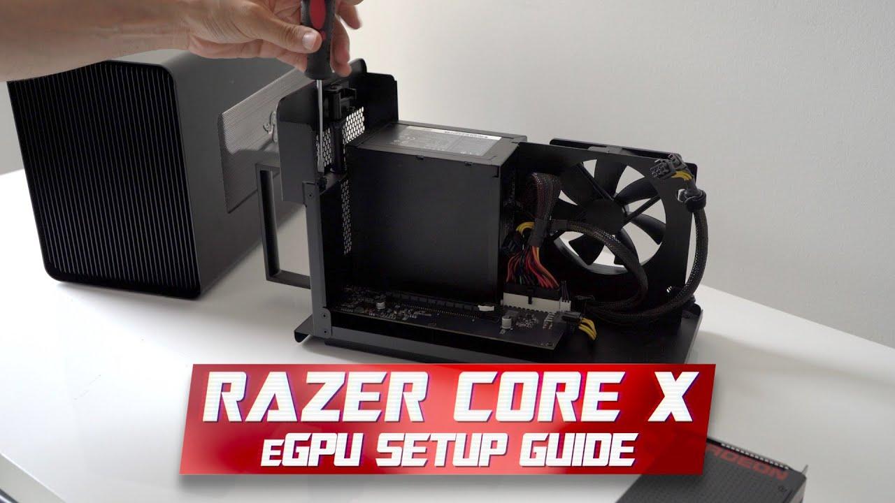 Razer Core X eGPU Setup Guide for Mac and Windows Bootcamp
