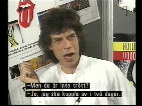 Rolling Stones: Interview Stockholm (Voodoo Lounge Tour)
