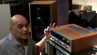 Vintage stereo Pioneer sx-1500TD review on mb quart 590 mcs
