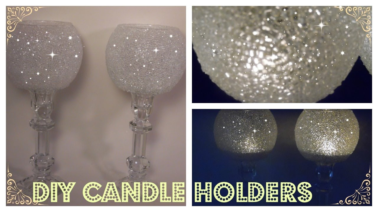 DIY Frosted Candle Holders Elegant