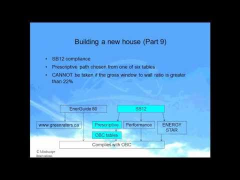 Ontario Buidling Code SB-12 Intro