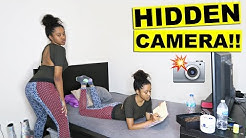 I HID A CAMERA IN MY LITTLE SISTERS ROOM!!! (YOU WON'T BELIEVE IT)