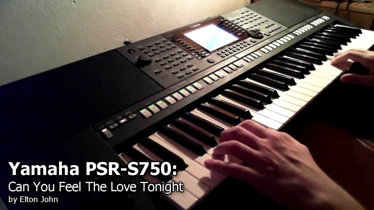 yamaha psr s750 can you feel the love tonight youtube. Black Bedroom Furniture Sets. Home Design Ideas