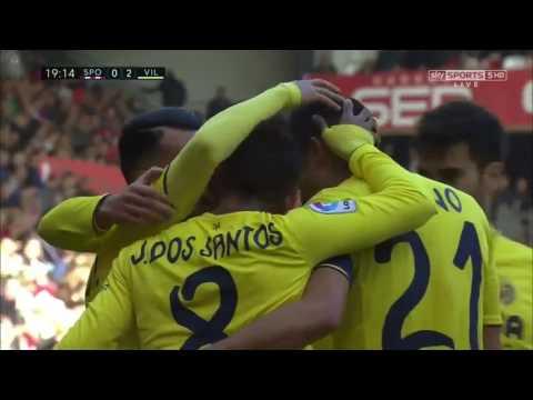Download Sporting Gijon 1 – 3 Villarreal (La Liga) Highlights Video
