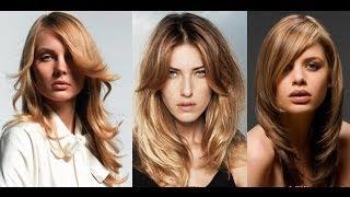 видео Стрижки с косой чёлкой на средние волосы