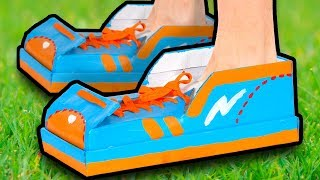 DIY Cardboard Shoes | Easy Life Hacks You Can Do at Home