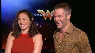 WONDER WOMAN - Gal Gadot & Chris Pine Interview (2017)