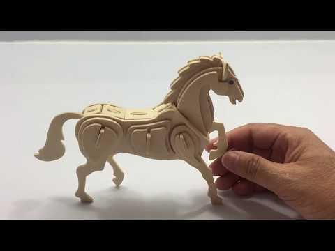 DIY 3D Woodcraft Construction Kit Horse