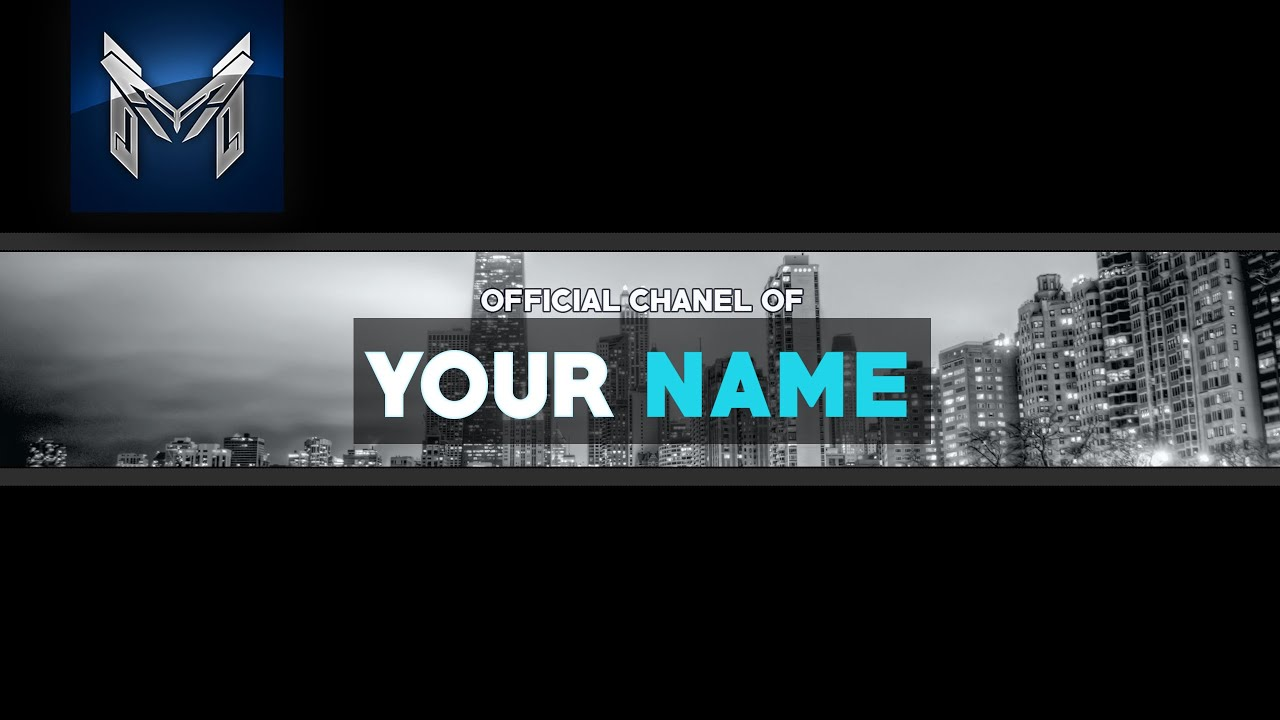 youtube banner photoshop template - Daway.dabrowa.co