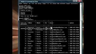 MySQL CMD Line Client pt 2 - Updating Tables .wmv