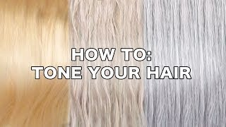 watch now how to tone brassy hair into cool toned blonde