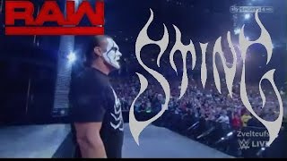 Sting attack Seth Rollins's reign as the WWE World Heavyweight Champion: Raw; Aug 31 2015