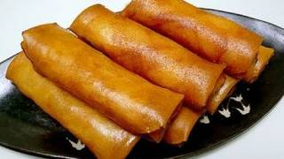 How to make Spring Roll / Pizza Egg Roll 春巻