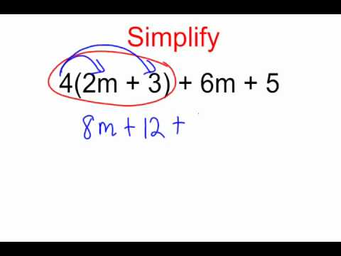 Using The Distributive Property To Simplify Expressions Youtube
