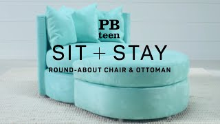 sit stay round about chair ottoman pbteen