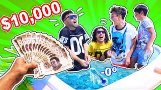 El último en salir del Jacuzzi CONGELADO gana $10,000 Pesos #RulesBeachHouse Ep. 10