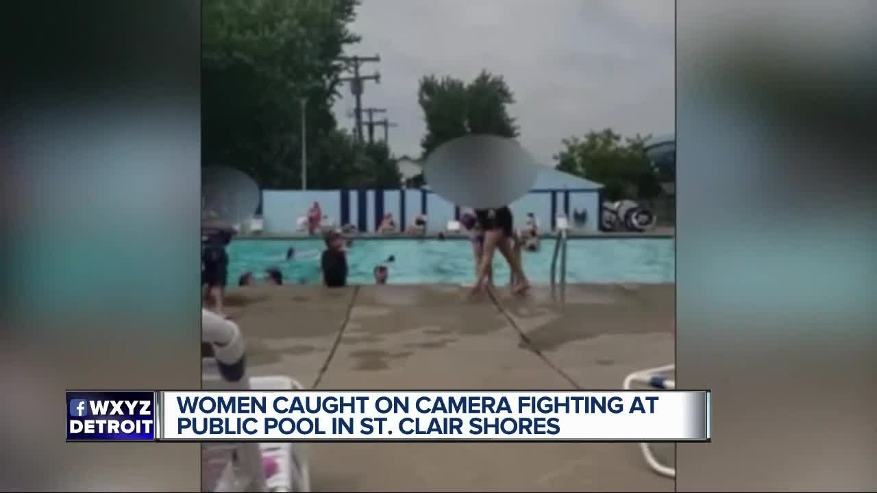 Woman caught on camera fighting at public pool in St. Clair Shores