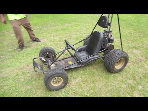 yard sale dingo go kart repair and ride.