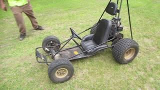 yard sale dingo go kart repair and ride.