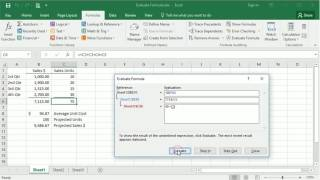 Using Excel's Evaluate Formula Tool To Troublshoot Formulas