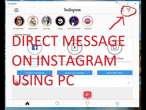 how to send direct message on instagram using pc 2017 youtube. Black Bedroom Furniture Sets. Home Design Ideas