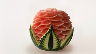 Repeat youtube video Watermelon Carved Model 3 By J Pereira Art Carving