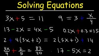 Algebra - How To Solve Equations Quickly! thumbnail