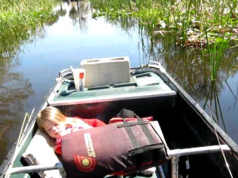 New jon boat and bass fishing youtube for Jon boat bass fishing