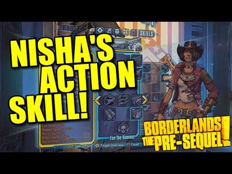 Borderlands The Pre-Sequel: Nisha The Lawbringer's Action Skill! |