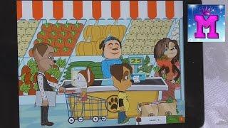 Манюшка играет на Ipad в игру Барбоскины Супермаркет Видео для детей Игры для детей