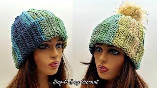 Easy Crochet Beanie Hat | A Shooting Star Unisex Beanie | Bagoday Crochet Tutorial #634