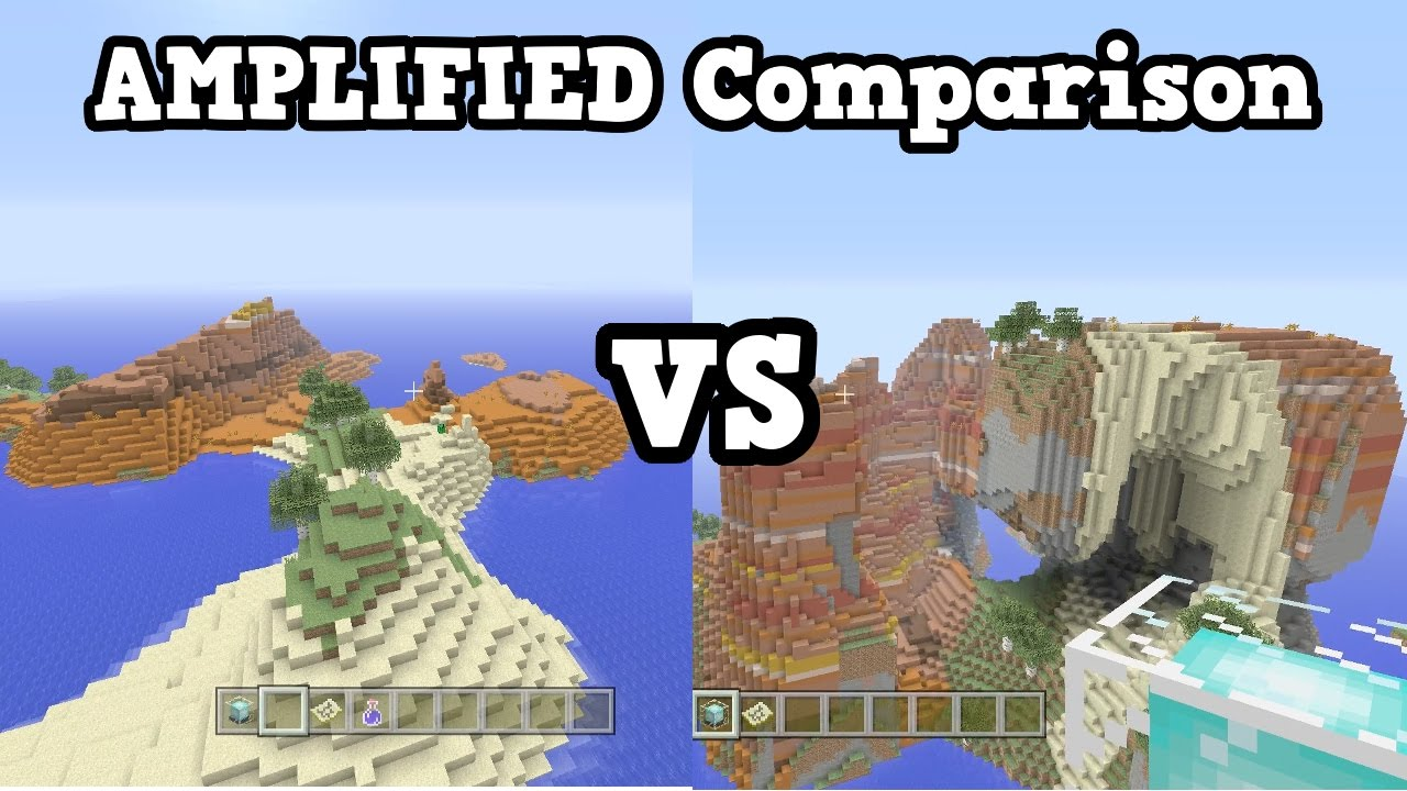 Minecraft Xbox One / PS12 - Amplified Worlds VS Normal Worlds