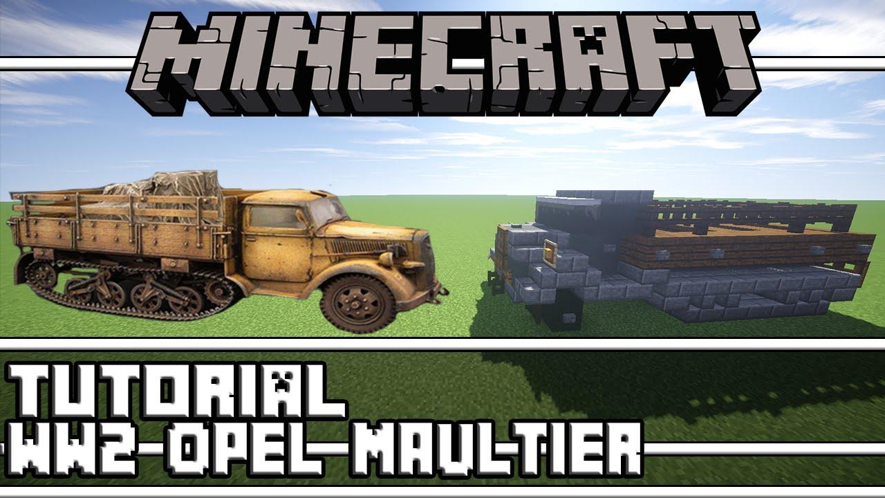 Minecraft: WW2 Opel Maultier Half-Track Tutorial